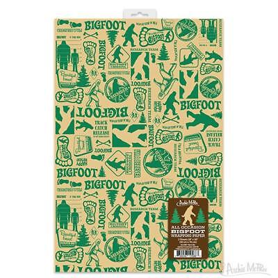 ALL OCCASION BIGFOOT GIFT WRAP 2 Sheets 20'' x 30'' Wrapping Paper Christmas Gag ()