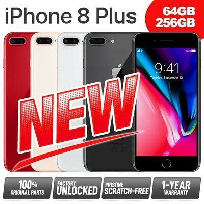 New Pristine APPLE iPhone 8 Plus 8+ 64GB 256GB Network Unlocked SIM Free