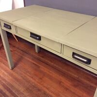 Functional, stylish desk painted in Chateau Grey!