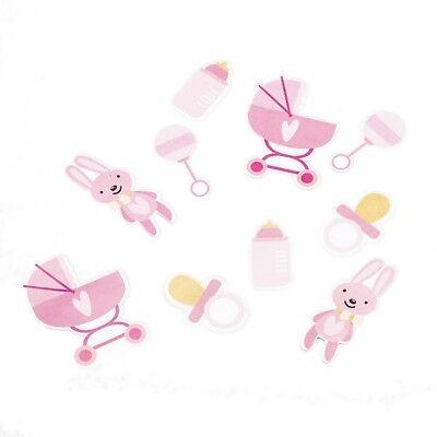 Rosa Baby Girl Konfetti, Streudeko für Babyshower, Babyparty, Mädchen-Geburtstag