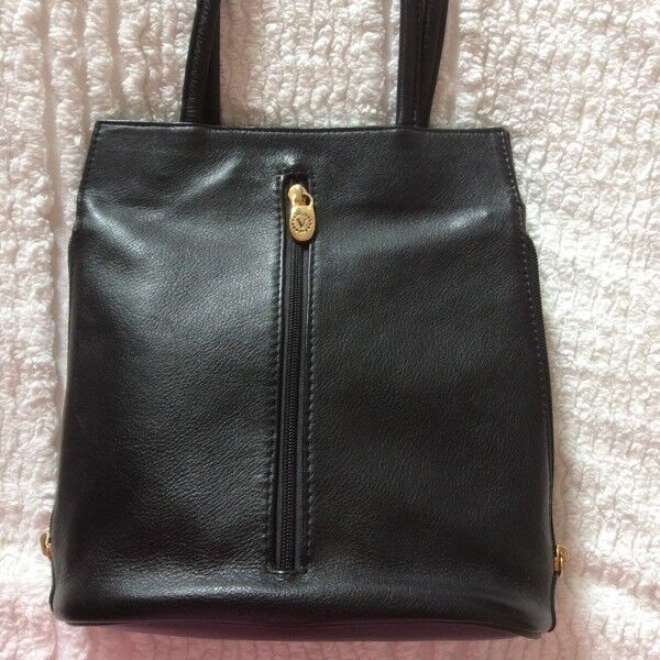 Valentina Black Leather Handbag. New (bargain buy)  3e4c037b80321