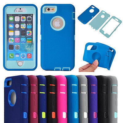 10pcs/lot Hybrid ShockProof Case Built-in Screen Protector for iPhone 6 Plus5.5""