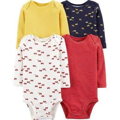 Carters Baby Boy 24m Long Sleeve Bodysuit 4 Pieces Set
