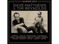 2 Tickets - Stalls Seating - Dave Matthews & Tim Reynolds, London 21st March