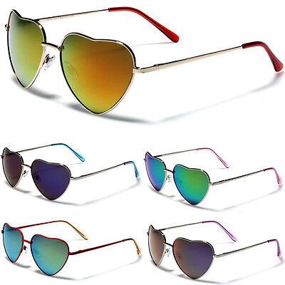 Heart Shaped Women Metal Frame Vintage Retro Aviator Lolita Sunglasses (Heart Shaped Sunglasses Metal Frame)