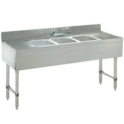Advance Tabco Crb-53c Lite Three Compartment Stainless Steel Bar Sink