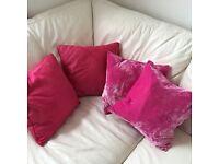 Zara Home Fushia Pink Cushions 40cm by 40cm