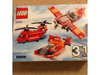 Lego City 3 in 1 Helicopter/Plane/Hovercraft no 31003 (excellent condition)
