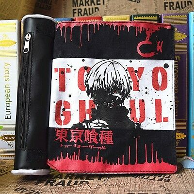 Japanese Anime Tokyo Ghoul Rollup Zipper Pencil Bag Wallet Travel Bag for Kids (Anime For Kids)