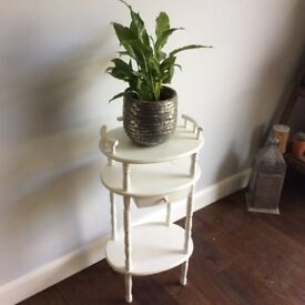 Telephone table side table vintage shabby chic