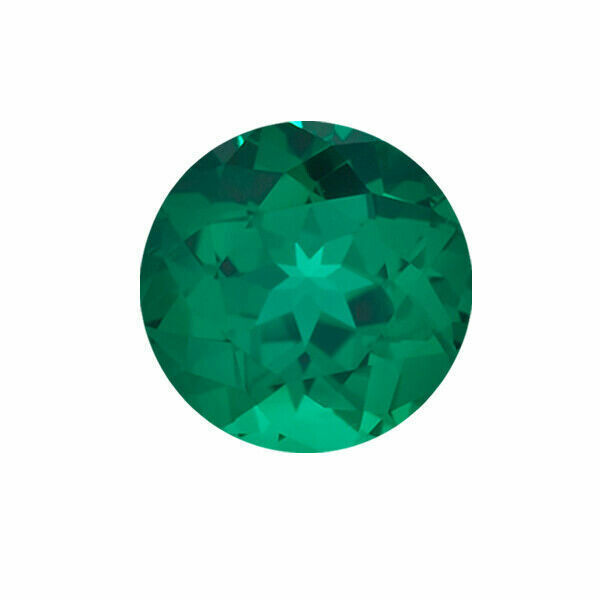 Lab Created Emerald Round shape AAA Quality from 1.5MM-10MM