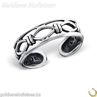 ZEHENRING Stacheldraht 925 Echt Silber Zehring Geschenkidee / 40324b