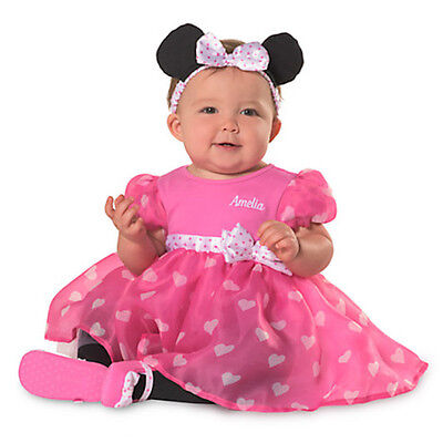 Party Halloween Store (Disney Store Minnie Mouse Halloween Baby Party 2 pc Dress Hearts Headband 18-24)