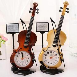 Vintage style Violin Alarm Clocks creative students desktop Clock Fashion PHNG
