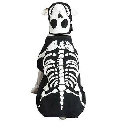 Black Dog Halloween (Casual Canine Glow Bones Dog Halloween Costume glow in the dark XS-XL  Black)