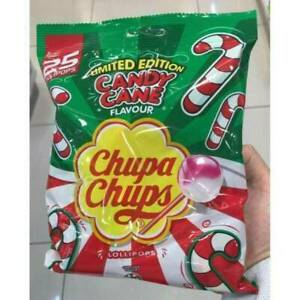 🎄 Chupa Chups Candy Cane Flavour Limited Edition Pack Of 25 🎄