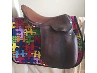 "17.5 "" Brown leather saddle"