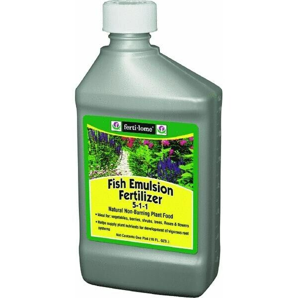 fertilome Fish Emulsion Fertilizer Liquid Plant Food,No 10611