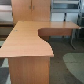 Large executive style desk with drawer