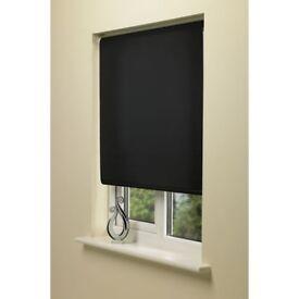 Blackout Roller Blind Stone 90cm wide x 160cm drop