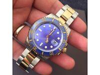 Rolex Submariner blue gold ceramic bezel model £175