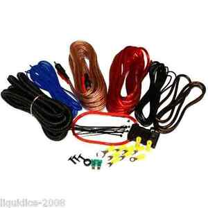 AMPLIFIER WIRING KIT 1000W POWER CAR AMP 10 AWG GAUGE SUB VAN CABLE FUSE HOLDER