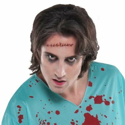 Plastic Surgery Halloween Costume (Sinister Surgery Wound Tattoos Halloween Party Costume Fancy Dress)