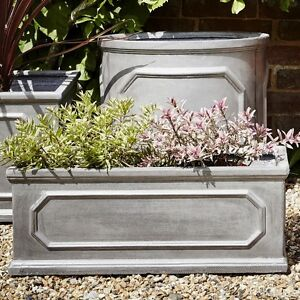 50cm Clayfibre (Fibreclay Alternative) Faux Lead Chelsea Trough Garden Planter