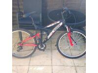 Trax mountain bike.