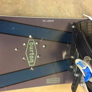 Burton snowboards with boots and bindings