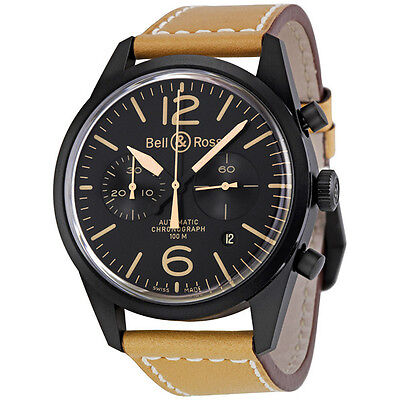 Bell and Ross Vintage Heritage Black Dial Mens Watch BR126-HERITAGE