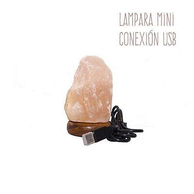 LAMPARA DE SAL DEL HIMALAYA CONEXION USB 0,5 kg (PC O PORTATIL)...