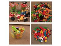 Kids selection Mr Potato Heads, Stickle Bricks & Kid K'nex