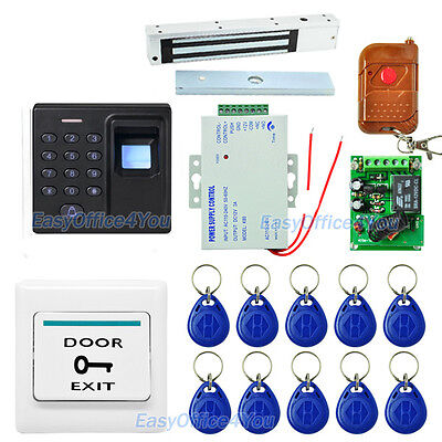 Diy Access Control 500 Users Fingerprint Rfid Key Fobsmagnetic Lock System
