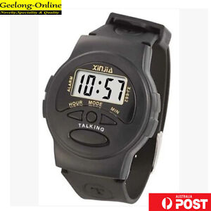 talking watch for blind or low vision digital wristwatch voice watch Auspost