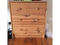 3-draw chest of drawers