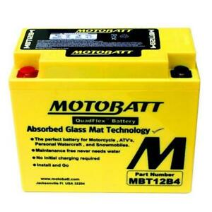 MotoBatt MBT12B4 AGM QuadFlexolts 150 CCA Battery YT12B4 YT12BBS