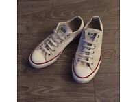 Immaculate Hardly Worn Converse All Stars Women's White UK7