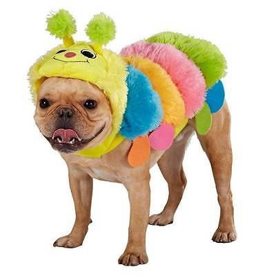 Plush Colorful Caterpillar Costume for Dogs Small Halloween Dog Cat (Dog Caterpillar Costume)