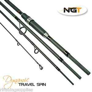 NGT DYNAMIC 8FT 4 PIECE TRAVEL CARBON FISHING ROD FOR SPINNING OR SEA FISHING