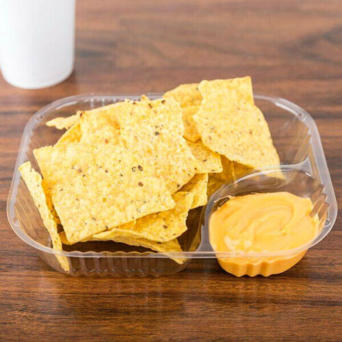 1000 CASE Clear Plastic Dispenser Nacho Chips Cheese Chili Fry Tray Basket