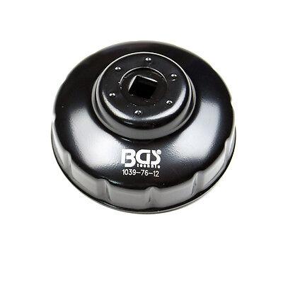 BGS Ölfilterkappe Ölfilterschlüssel VW Audi Fiat Mercedes Renault MB 76 mm x 12 online kaufen
