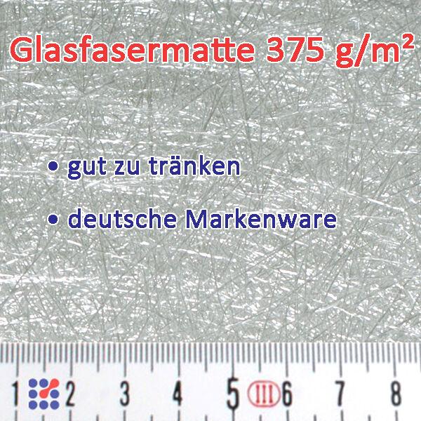GLASMATTE, GLASVLIES, GLASFASERMATTE F. POLYESTERHARZ  EPOXIDHARZ POLYESTERVLIES Glasmatte 375 g/m²