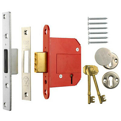 ERA Fortress 36151 BS 5 Lever Deadlock Satin Chrome 76mm(3