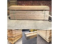 Unbanded: Banded Wooden/ Timber Scaffold Boards ~ Joists/ Decking: Diy etc 36mm X 225mm X 3.9m