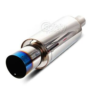 Inspired by HKS Hi Power 409 Burnt Tip Stainless Steel Exhaust Muffler Tail Pipe