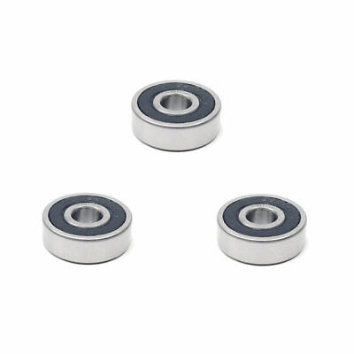 3x 6301 2rs Rubber Sealed Deep Groove Ball Bearings - 12x37x12 Mm