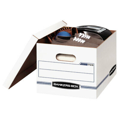 Avery Storfile Storage Box Letterlegal Lift-off Lid White 6pack 5703604