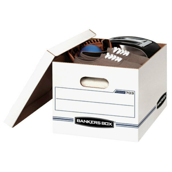 Avery Stor/File Storage Box Letter/Legal Lift-Off Lid White