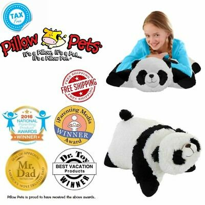 Genuine My Pillow Pet Comfy Panda Stuffed Animal Plush Toy Large 16  Black White